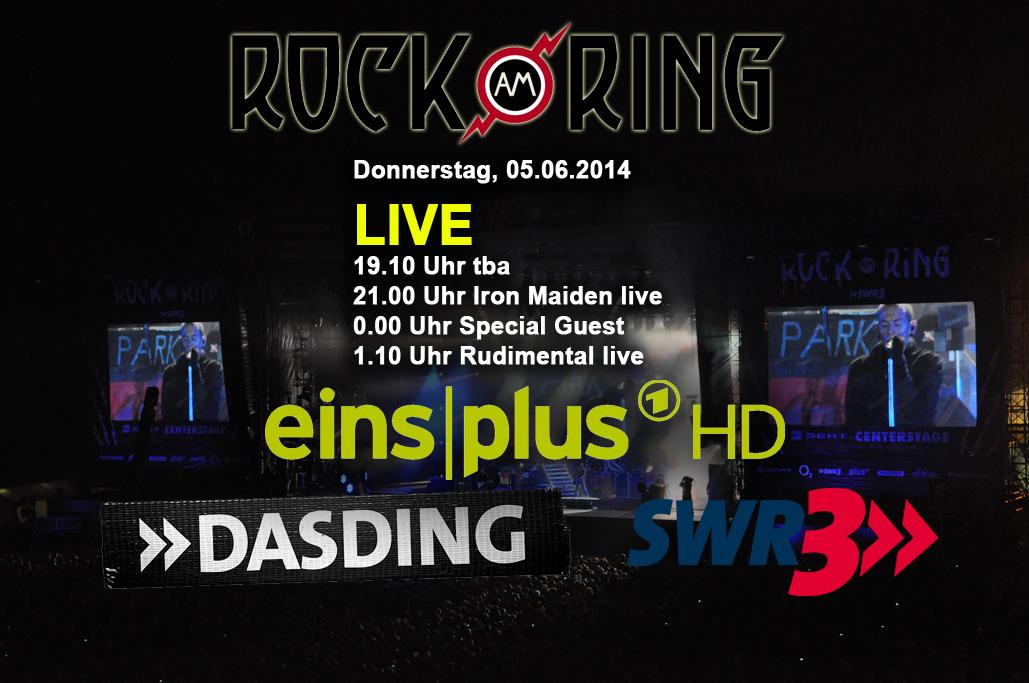 Iron Maiden ab 21 Uhr LIVE in TV und Internet – Vorläufiger Spielplan für Donnerstag, 5. Juni 2014 steht fest