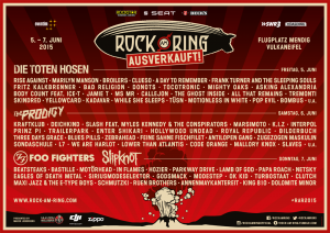 Rock am Ring 2015 - Poster, Stand 30.04.2015, Quelle MLK