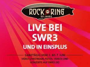 Rock am Ring 2015 - Live bei SWR3 und in EinsPlus