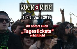 Tagestickets jetzt auch für Rock am Ring 2018