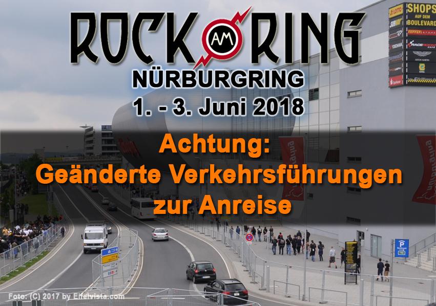 Rock am Ring 2018 – Geänderte Verkehrsführungen zur Anreise