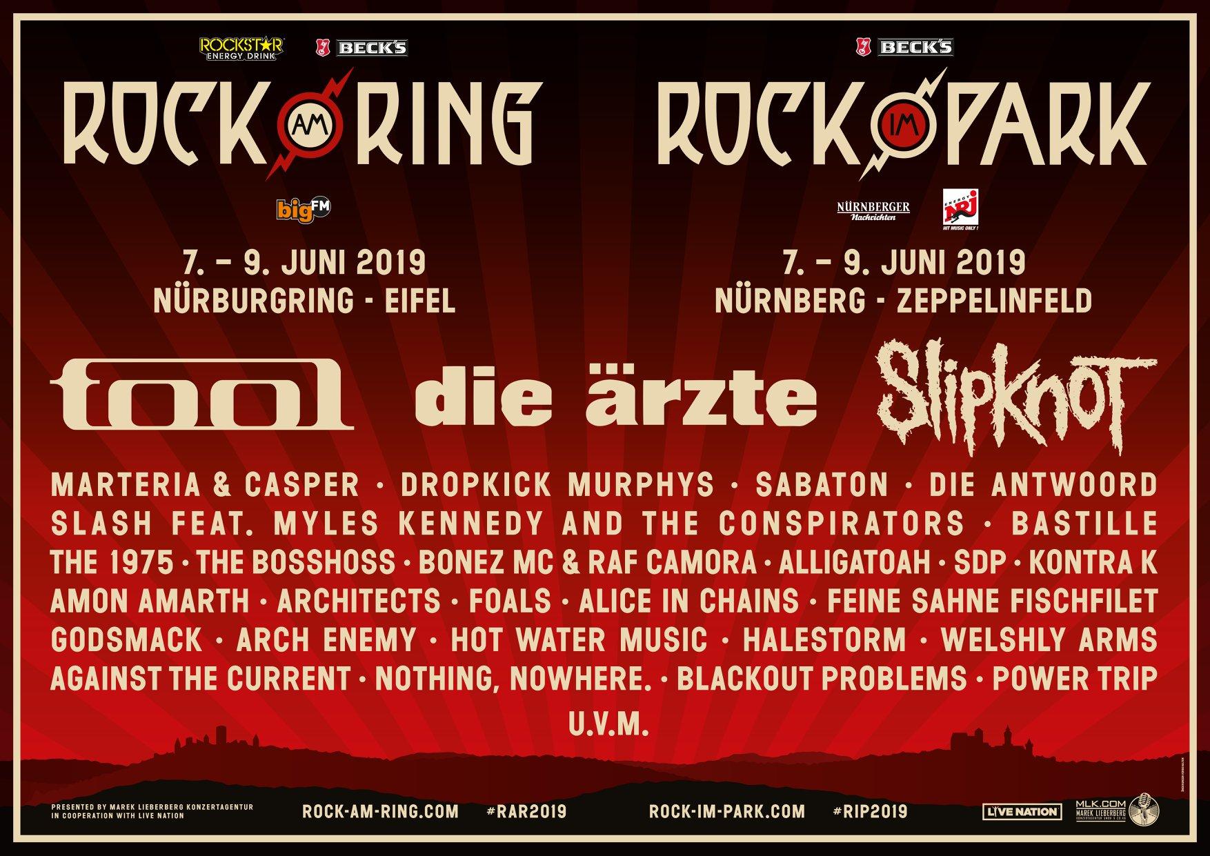 Ring & Park mit neuer Bandwelle: Slipknot, Tool und weitere Acts angekündigt