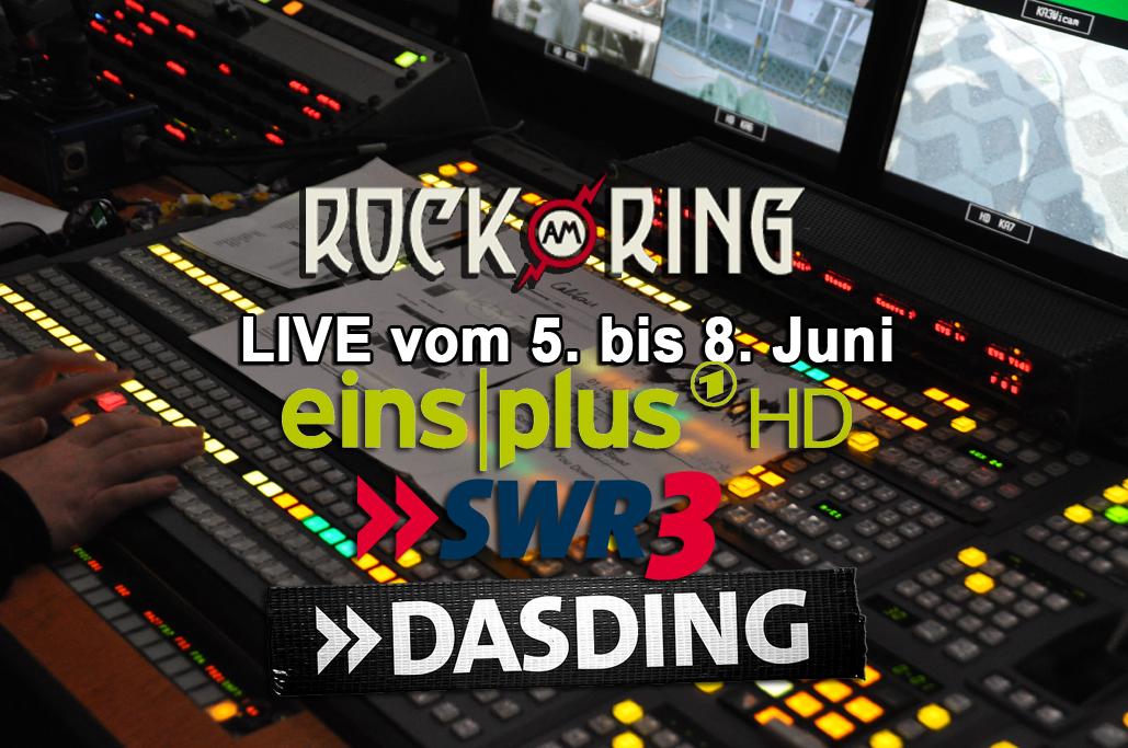 Rock am Ring vier Tage live auf EinsPlus HD – Livestreams auf SWR3 und DASDING