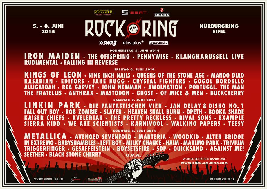 Tagespläne Stehen Fest Rock Am Ring News Zum Open Air