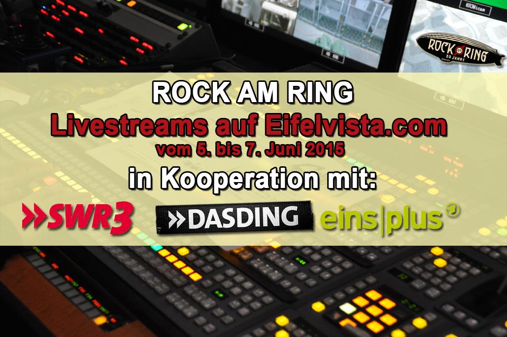 Livestreams auf Eifelvista.com – Rock am Ring Sendeplan Samstag