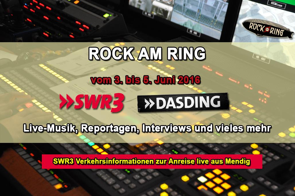 SWR3 und DASDING bei Rock am Ring 2016