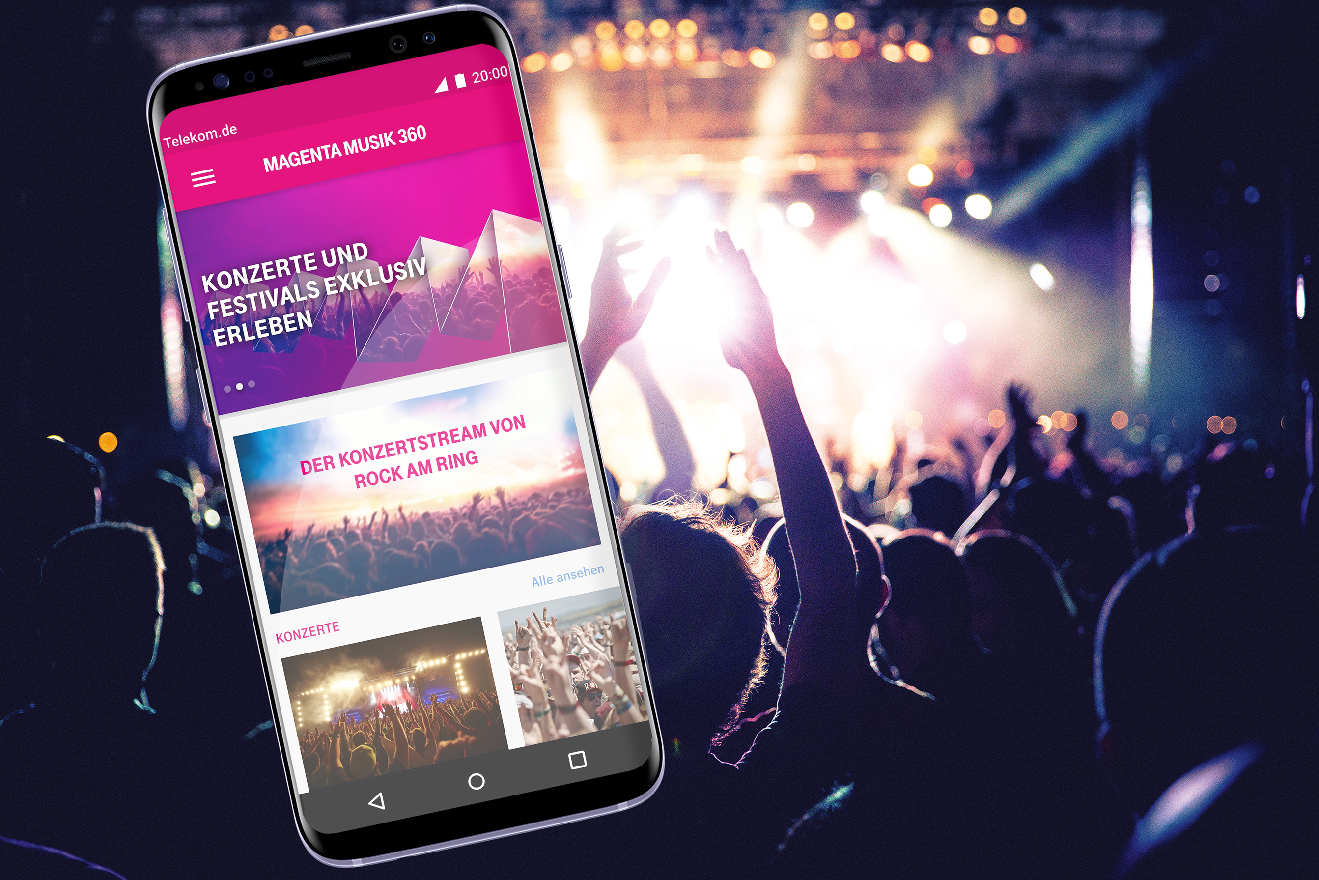 Auftakt bei Rock am Ring: MagentaMusik 360 bietet Musik-Events exklusiv in 360° Livestreams