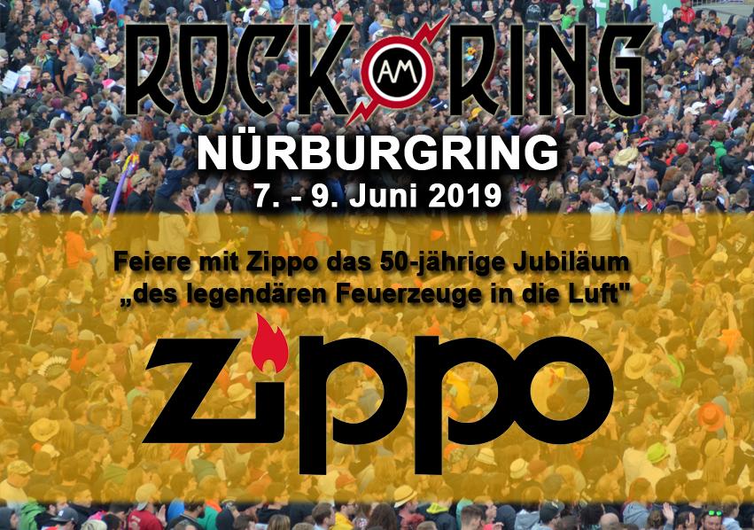 """Woodstock wird 50 und Zippo feiert 50 Jahre """"Feuerzeuge in die Luft"""" auf Rock am Ring"""